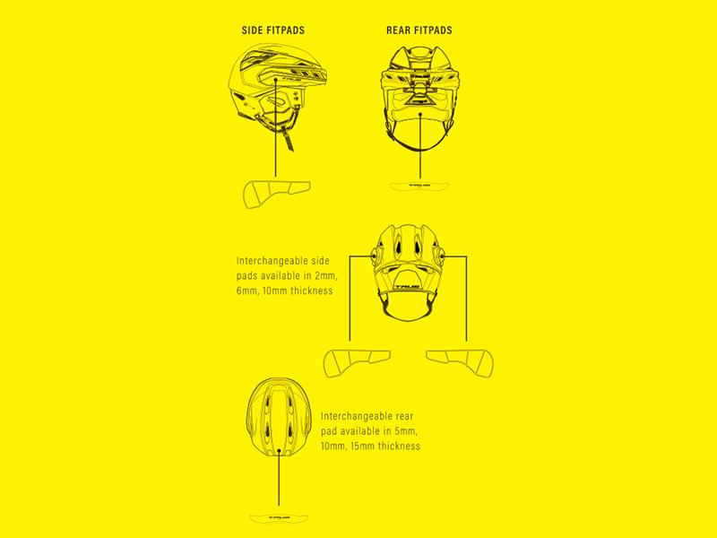 Система Fitpad в шлеме TRUE
